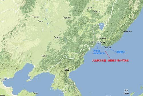 中国与俄罗斯地图